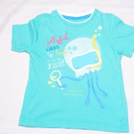 Green jellyfish t-shirt 2-3 years