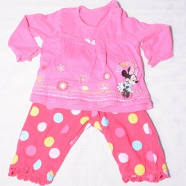 Minnie Mouse pink top & trousers outfit 6-9 months
