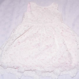 Pink  & white lace dress 3-4 years