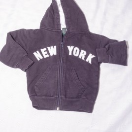 New York navy hoodie cardigan 3 years