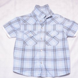 Blue short sleeve shirt 18-24 months