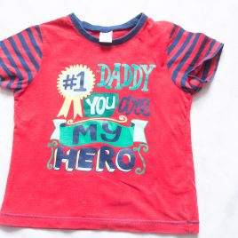 'Daddy you are my hero' t-shirt 2-3 years