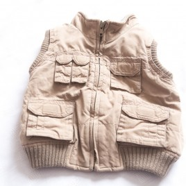 Brown body warmer gilet 18-24 months