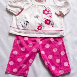 Disney 101 Dalmatians top & trousers outfit 6-9 months