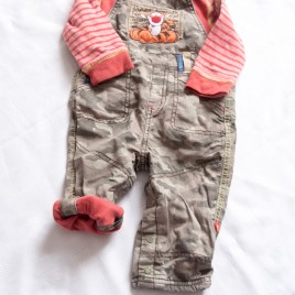 Winnie The Pooh Tigger outfit top & roll up leg dungarees 9-12 months