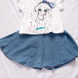 Next t-shirt & skirt outfit 5 years