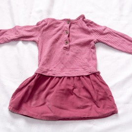 Next dusky pink dress 9-12 months