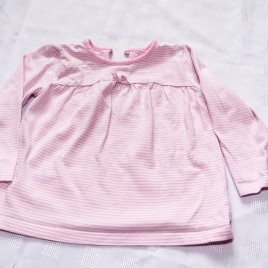 Pink striped top 9-12 months