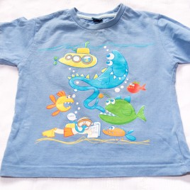 Blue seaside t-shirt 18-24 months