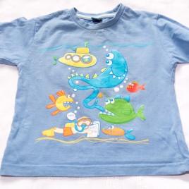 Blue seaside t-shirt 18-24 months