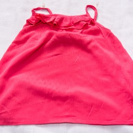 Coral vest top t-shirt 5 years