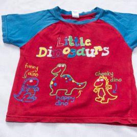 Red dinosaur t-shirt 2-3 years