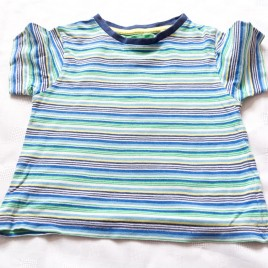 Blue & green stripy t-shirt 12-18 months
