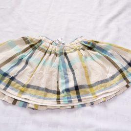 Next green, blue & cream skirt 2-3 years