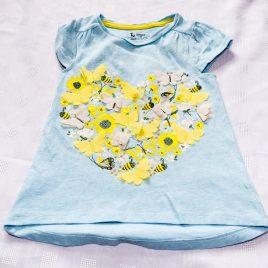 Butterflies, flowers & bees t-shirt 2-3 years