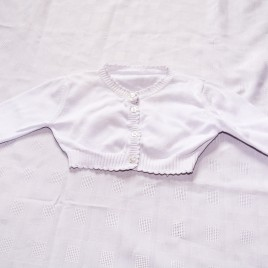 M&S white cardigan 9-12 months