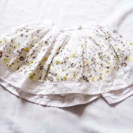 Butterflies and bees yellow & cream skirt 2-3 years