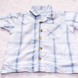 Blue checked shirt 18-24 months