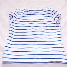 Mothercare blue & white striped t-shirt 2-3 years