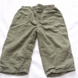 Green cord trousers 12-18 months