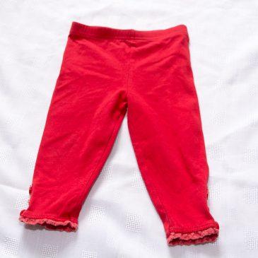 Red leggings  9-12 months