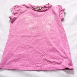 Next pink butterfly t-shirt 5 years