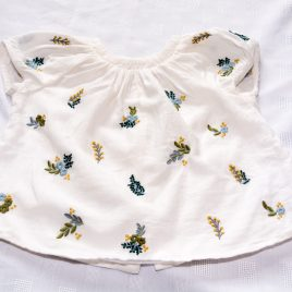 Next embroidered flowers t-shirt 2-3 years