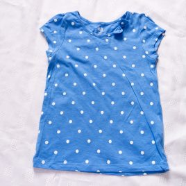 H&M blue spotty t-shirt 2-4 years