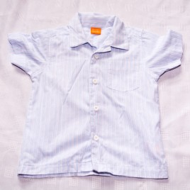 Blue patterned shirt 12-18 months