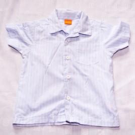 Blue patterned shirt 12-18 months