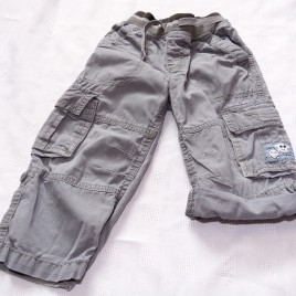 Grey rolled up leg cargo trousers 18-24 months