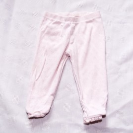Next pink patterned leggings  9-12 months