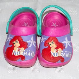 Disney Little Mermaid clog shoes size 6