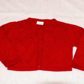 Next red sparkly cardigan 12-18 months