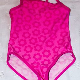 Pink flowers swimming costume 3 years