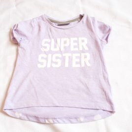 "Next ""Super sister"" t-shirt 9-12 months"