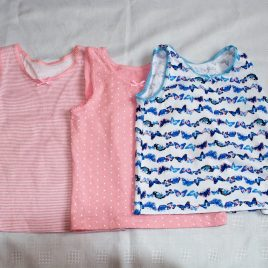 x3 pink & butterfly vests 3-4 years