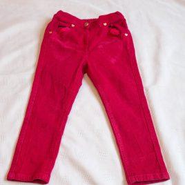 Dark pink cord trousers 2-3 years