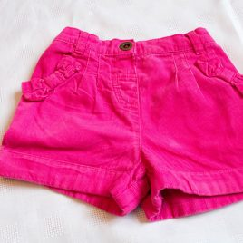 Pink cord shorts 18-24 months