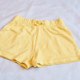 Yellow shorts 18-24 months