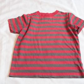 Red & Brown stripy t-shirt 4 years