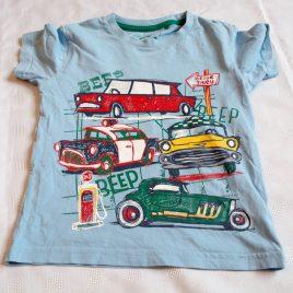 Blue cars t-shirt 3-4 years