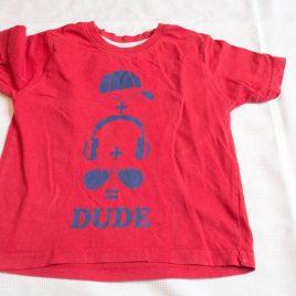 Red dude t-shirt 3-4 years