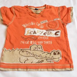 Orange crocodile t-shirt 3-4 years