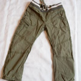 M&S khaki cargo trousers 3-4 years