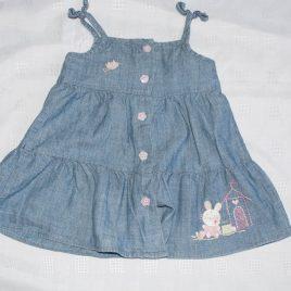 Little mouse denim style dress 3-6 months