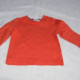 Blue Zoo orange top 3-6 months