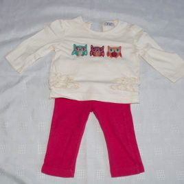 Owl top & leggings outfit 3-6 months