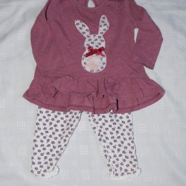 Bunny top & leggings outfit 3-6 months