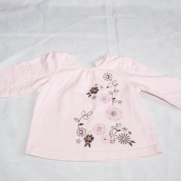 Pink flowers top 3-6 months